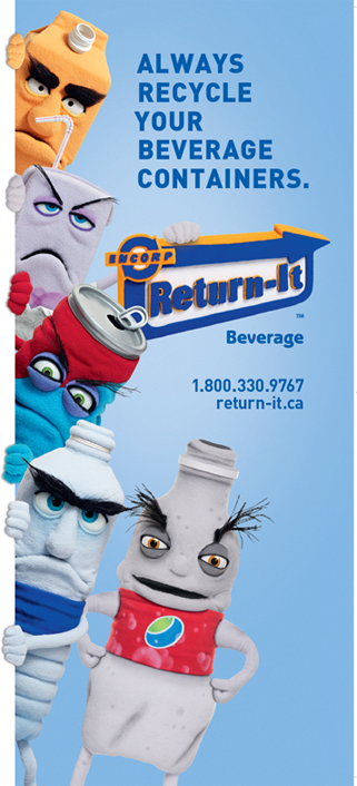 Always return your beverage containers.