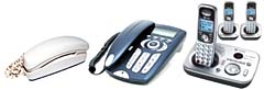 Telephones (corded and cordless, VoIP, satellite phones)