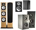 Home Speaker Systems (such as stereo and 5.1 packages supplied without amplifier or video player)