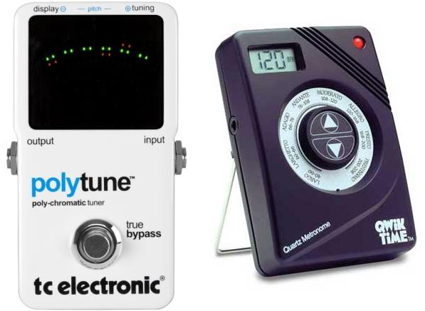 Electronic Tuners, Metronomes or Combination Devices